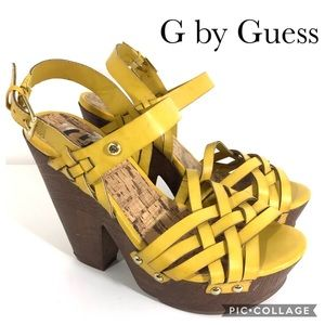 G by Guess yellow platform sandals GGSILMAA 6.5M